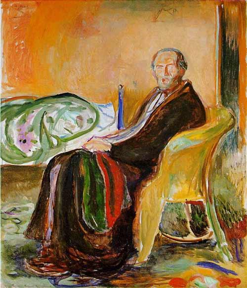 """""""Autorretrato después de la gripe española"""", de Edvard Munch a la Galería Nacional de Oslo"""