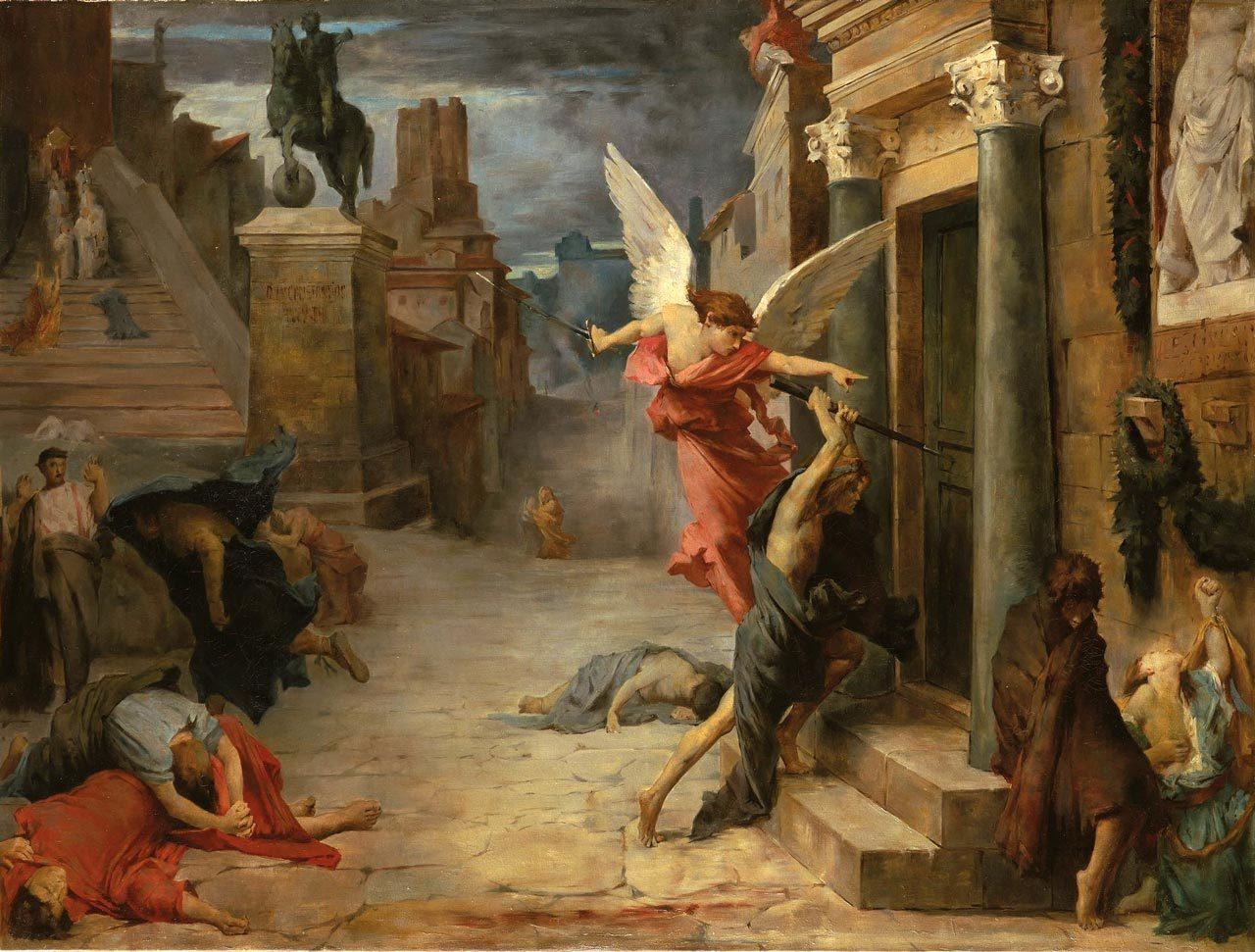 """""""Peste en Roma"""" de Jules-Élie Delaunay"""