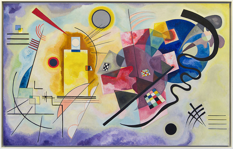 Quadres per l'optimisme, 'Groc vermell blau', de Vassili Kandinski