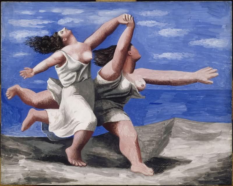 """Quadres per l'optimisme: """"Dues dones corrent per la platja"""", de Picasso"""