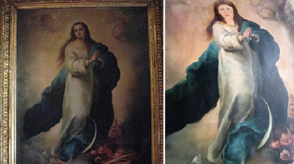 La mort d'Èrik el Belga i la Immaculada de Murillo que ha acabat com l'Ecce Homo