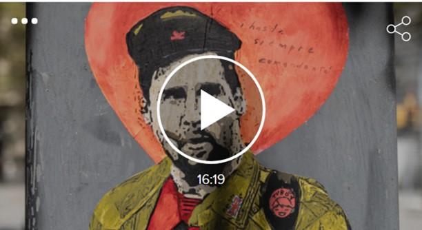 "Artur Ramon ""Hasta siempre, comandante"": el graffiti de comiat a Messi"