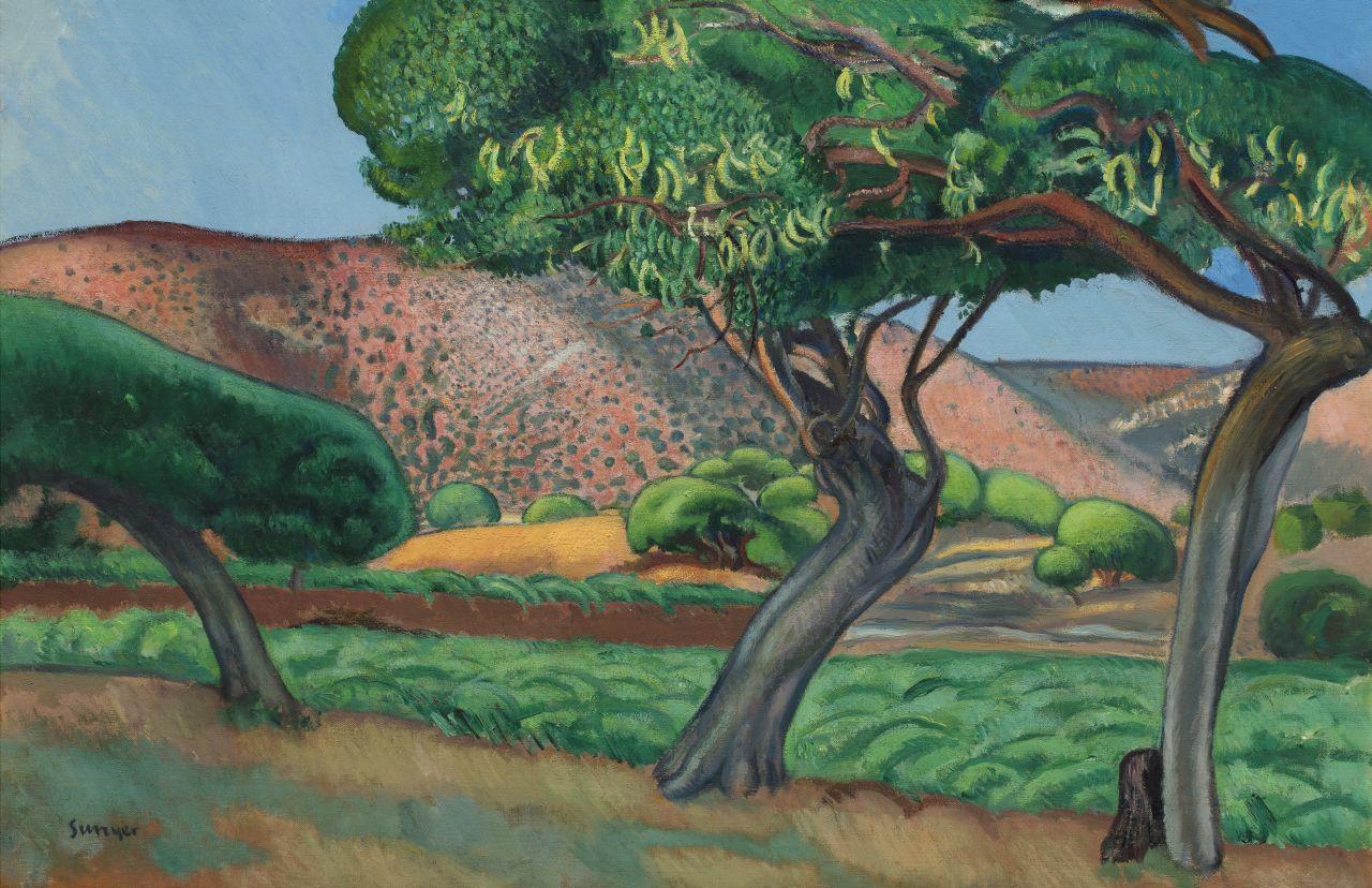 Els garrofers, Joaquim Sunyer
