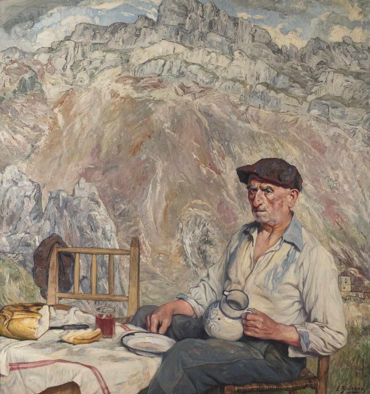 Aldeano vasco merendando, Ignacio Zuloaga