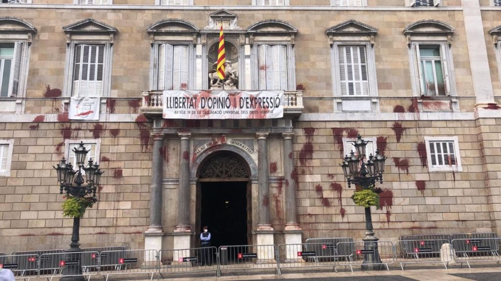 Breviari: Performance al Palau de la Generalitat