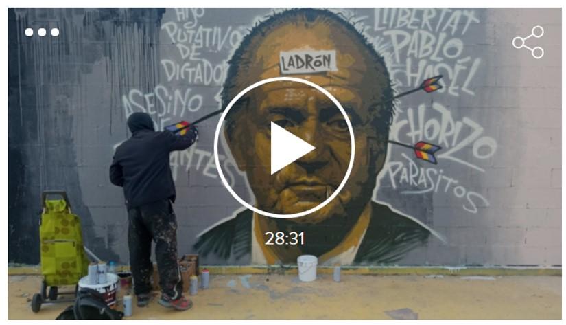 Artur Ramon i Jacinto Antón amb Roc BlackBlock (grafiter): L'ajuntament de Barcelona li demana tornar a pintar el mural que la brigada municipal va esborrar