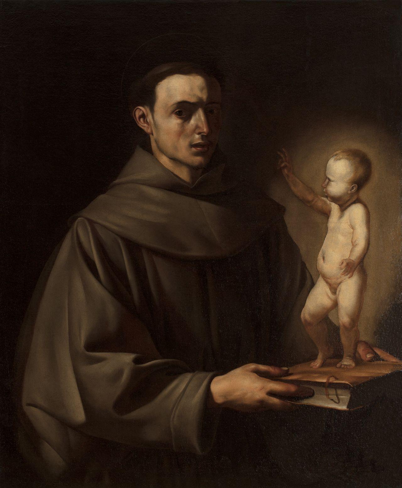 Sant Antoni amb el Nen Jesús, José de Ribera